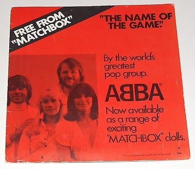 Gripsweat Abba Matchbox Promo Sleeve 7 Quot Single The Name